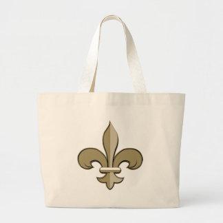 Fleur de lis - Gold and black Canvas Bag