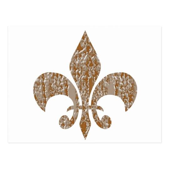 Fleur de Lis : Gold n Silver Engraved
