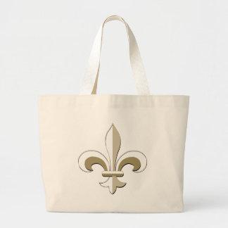 Fleur de lis - Gold Jumbo Tote Bag