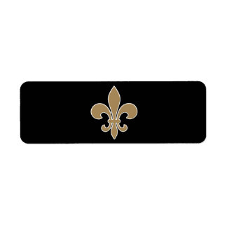 Fleur de Lis Gold with White and Black Outline