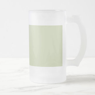 Fleur de Lis Green for French Chateau Wedding 16 Oz Frosted Glass Beer Mug