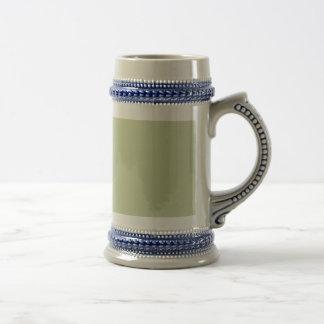 Fleur de Lis Green for French Chateau Wedding 18 Oz Beer Stein
