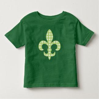 Fleur de lis Green Gingham toddler t-shirt