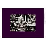 Fleur de Lis [Greeting Card] on Purple