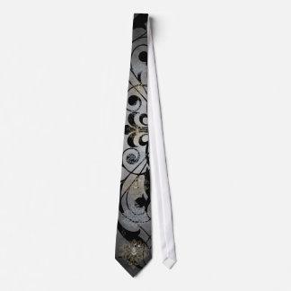 Fleur De Lis Grey Fencing Sword Tie