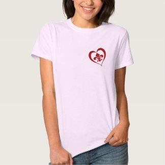 Fleur De Lis Heart T-shirts