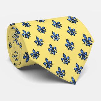 Fleur-de-lis Heraldic Yellow Two-Sided Tie