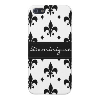 Fleur de Lis in Black and White iPhone 5 Case