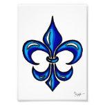 Fleur de Lis in Blue Photo Art