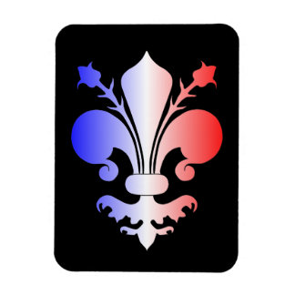 Fleur de lis in blue, white, and red magnet