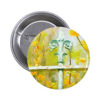 Fleur de lis in Giverny 6 Cm Round Badge