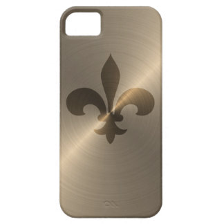 Fleur De Lis In Gold iPhone 5 Case