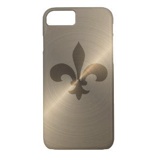 Fleur De Lis In Gold iPhone 7 Case