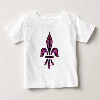 FLEUR DE LIS IN HOT PINK ON BLACK INFANT T-Shirt