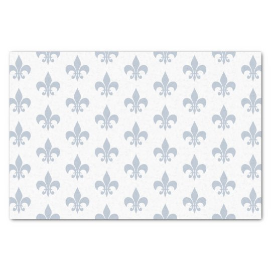Fleur De Lis in Slate Blue Tissue Paper