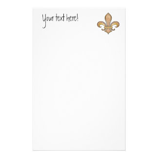 Fleur de Lis in solid color  - Beige or Coffee Customised Stationery