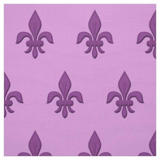 Fleur de Lis in Violet Purple on Lavender