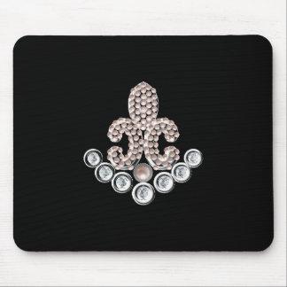 Fleur De Lis-jewelled Mouse Mat