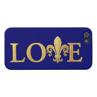 Fleur de lis, Love iPhone 5/5S Covers
