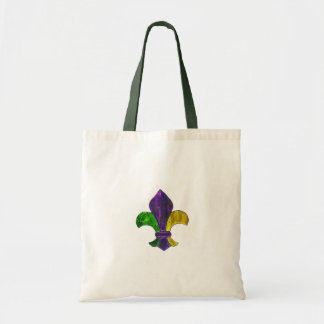 Fleur De Lis Mardi Gra add text Tote Bag