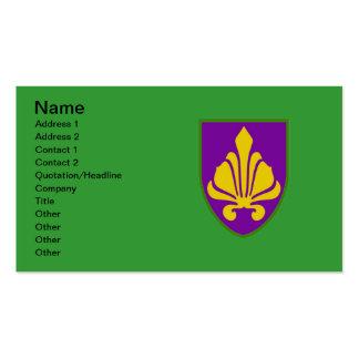 Fleur De Lis Mardi Gras Colors Double-Sided Standard Business Cards (Pack Of 100)