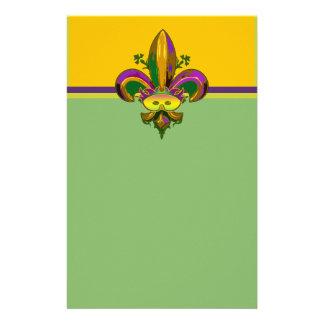 Fleur de lis Mask Stationery Design