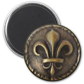 Fleur De Lis Medallion 6 Cm Round Magnet