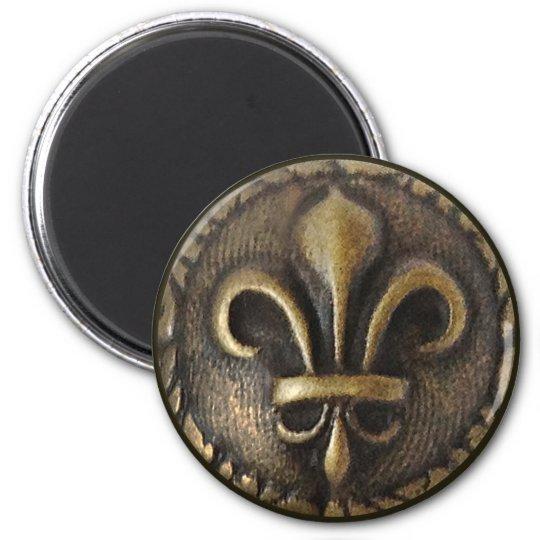 Fleur De Lis Medallion Magnet
