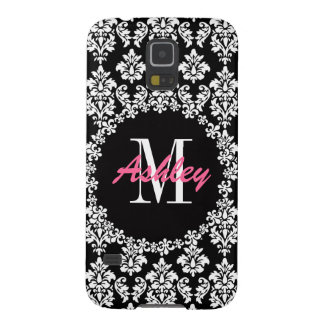 Fleur de Lis Monogram Damask Pattern Galaxy S5 Cases