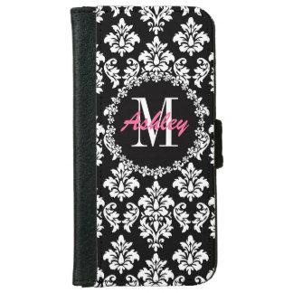 Fleur de Lis Monogram Damask Pattern iPhone 6 Wallet Case