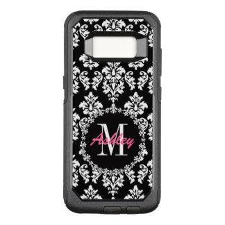 Fleur de Lis Monogram Damask Pattern OtterBox Commuter Samsung Galaxy S8 Case