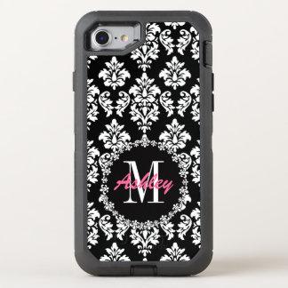 Fleur de Lis Monogram Damask Pattern OtterBox Defender iPhone 7 Case