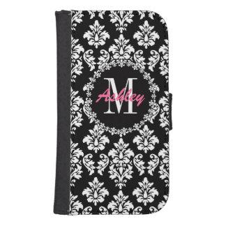 Fleur de Lis Monogram Damask Pattern Samsung S4 Wallet Case