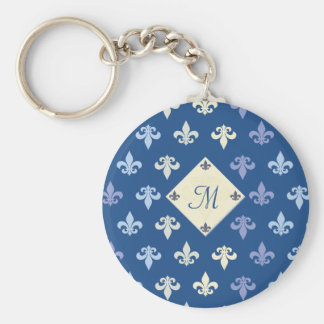 Fleur de Lis - monogram Key Ring