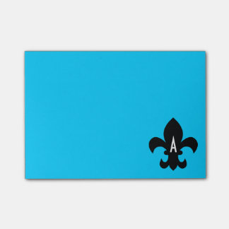 Fleur de Lis Monogram Template Post-it Notes