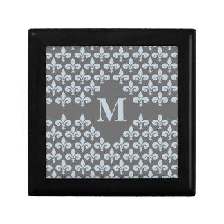 Fleur-De-Lis monogrammed gift box, customize Gift Box
