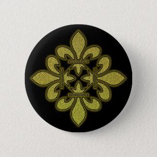 Fleur de lis Mosaic Art 6 Cm Round Badge