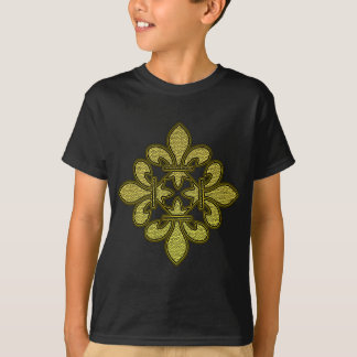 Fleur de lis Mosaic Art T Shirt