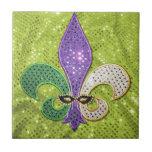 Fleur De Lis  New Orleans Jewel Sparkle Tiles