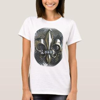 FLEUR DE LIS ON GOLD MESH PRINT T-Shirt
