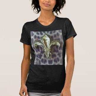 FLEUR DE LIS ON LEOPARD PRINT T-Shirt