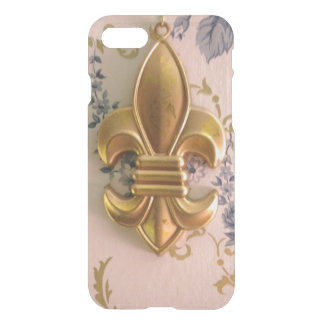 fleur de lis On Vintage Wallpaper iPhone 7 Case