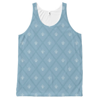 Fleur-de-lis pattern All-Over print tank top