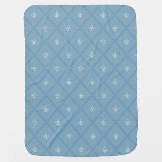 Fleur-de-lis pattern baby blanket