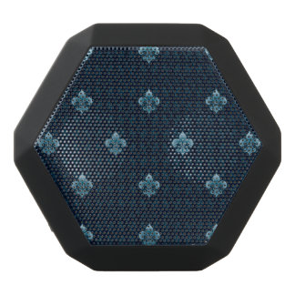 Fleur De Lis Pattern Black Bluetooth Speaker