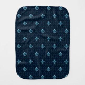 Fleur De Lis Pattern Burp Cloth