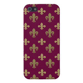 Fleur de lis pattern case for iPhone 5/5S