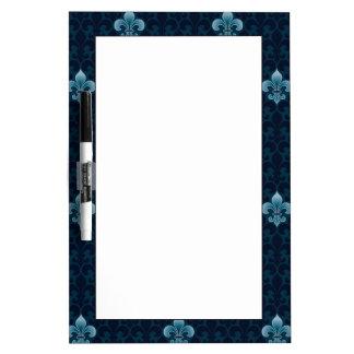 Fleur De Lis Pattern Dry Erase Board