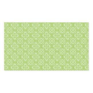 Fleur De Lis Pattern in Apple Green Pack Of Standard Business Cards