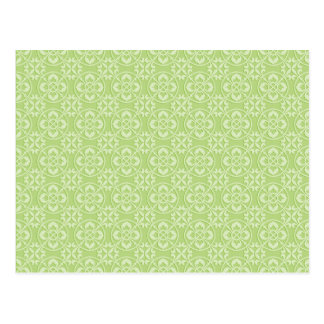Fleur De Lis Pattern in Apple Green Postcard